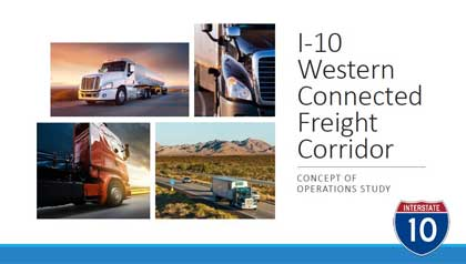 Western Connected Freight Corridor Concept of Operations (ConOps) Study Overview