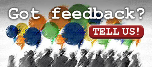 Got feedback? Tell Us what you think!